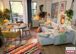 Nordic Chic kanapé csodaszép világoskék bársonyból