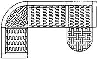 Íves ülőgarnitúra alátámasztó rugózata